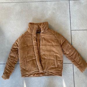 Corduroy puffer coat